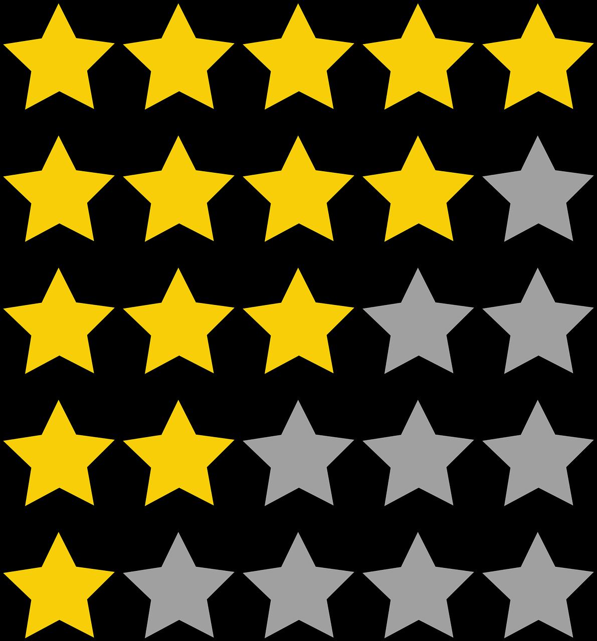סטטיסטיקה לפי כוכבים